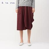 a la sha 垂墜感不對稱條紋長裙
