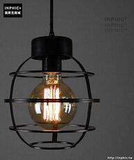 INPHIC- 工業風格復古吊燈美式創意咖啡館酒吧吧台鍋蓋鳥籠單頭吊燈-B款_S197C