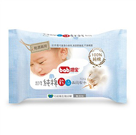 【佳兒園婦幼館】bab培寶 超厚純棉乾濕兩用巾10抽3入