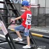 童裝男童夏裝2019新款套裝中大童夏季兒童短袖帥氣韓版潮洋氣衣服-Ifashion