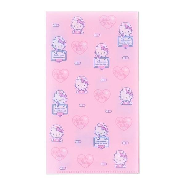 〔小禮堂〕Hello Kitty 日製抗菌口罩收納夾《粉.護士》收納包.口罩夾 4901610-04322