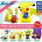 全套5款【日本正版】精靈寶可夢 飽食公仔 P2 扭蛋 轉蛋 神奇寶貝 皮卡丘 耿鬼 來電汪 - 884665