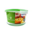 耐熱玻璃保鲜盒 830ml 圓形|玻璃便當盒 保鮮盒 冷凍 微波 烹飪 烤箱 便當盒【mocodo 魔法豆】