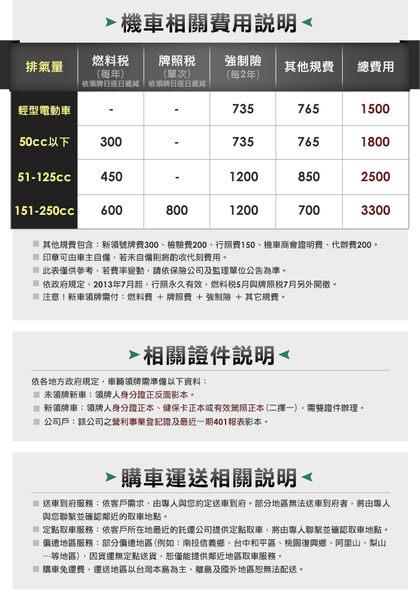 YAMAHA 山葉機車 勁豪125 碟煞-日行燈版-2019年式