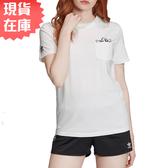 【現貨】ADIDAS GRAPHIC TEE 女裝 短袖 休閒 慢跑 三葉草 眼睛 白【運動世界】GK3668