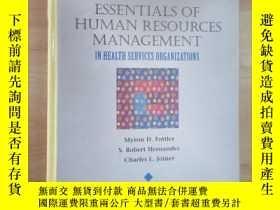 二手書博民逛書店外文書罕見ESSENTIALS OF HUMAN RESOURCES MANAGEMENT(共338頁,精裝)
