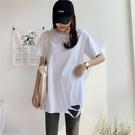 中長款T恤 2020夏裝春季新款中長款白色t恤女短袖寬鬆內搭打底衫上衣ins潮 店慶降價