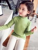 女童T恤秋裝新款女童打底衫小中大兒童長袖t恤上衣洋氣莫代爾純棉冬促銷好物