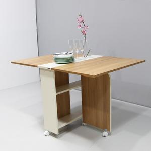 DIY簡易伸縮可移動折疊餐桌1.2米wt043-8