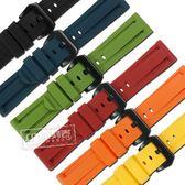 Watchband / 24mm / 各品牌通用 百搭 舒適耐用 輕便 運動型 矽膠錶帶 黃/橘/紅/綠/藍/黑