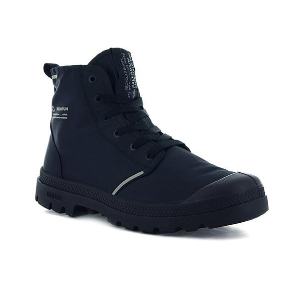 【南紡購物中心】【PALLADIUM】PAMPA LITE+ RCYCL WP+ 地球系列-橘標防水靴 / 深海藍 男女鞋