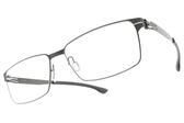 Ic! Berlin光學眼鏡 TORU N. GRAPHITE (石墨) 紳士必備方框 薄鋼眼鏡 # 金橘眼鏡