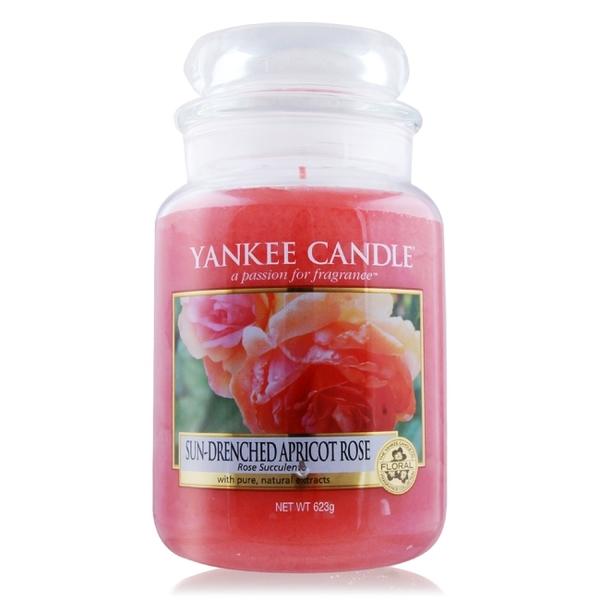 YANKEE CANDLE 香氛蠟燭-陽光下的杏色玫瑰 Sun-Drenched Apricot Rose(623g)