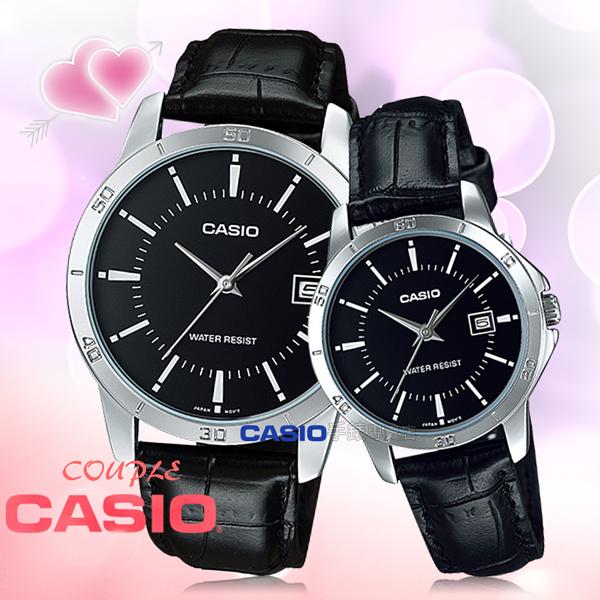 CASIO 卡西歐 手錶 專賣店 LTP-V004L-1A UDF+MTP-V004L-1A UDF 對錶 指針錶 皮革錶帶