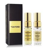 TOM FORD 私人調香系列-嫣紅檀香+咖啡玫瑰香水(4mlX2)[含外盒] EDP-航版