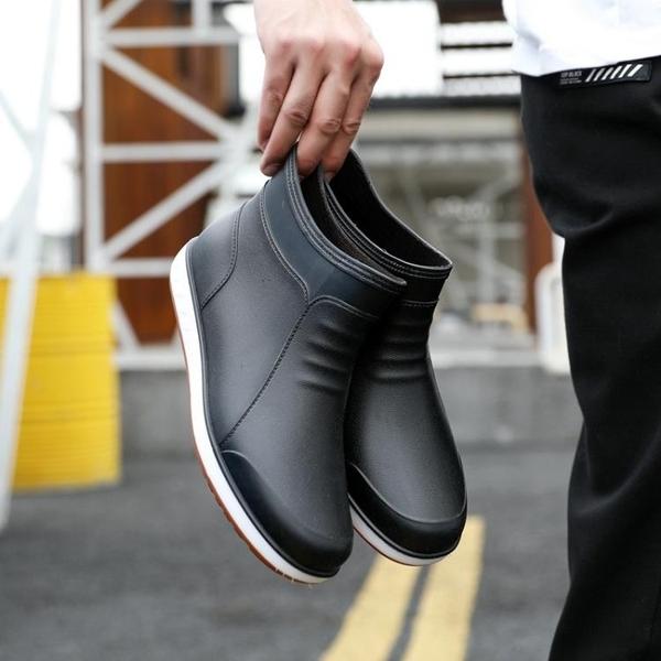 雨鞋 雨鞋男夏季韓國短筒低幫雨靴防滑耐磨水鞋工作膠鞋防水時尚套鞋