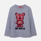 WHY AND 1/2 變色普普熊棉質萊卡T恤 5Y~10Y