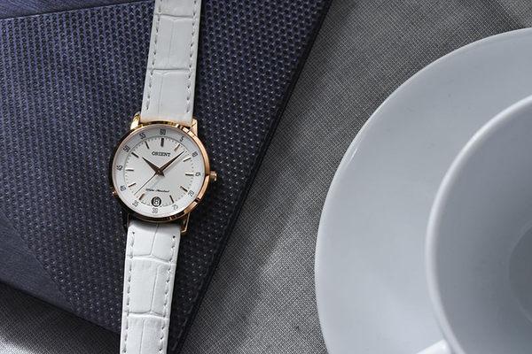ORIENT 東方錶 SLIM系列 優雅數字藍寶石鏡面石英錶 女生皮帶款 FUNG6002W 白色 - 31mm