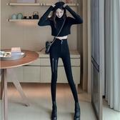 牛仔長褲 夏季時尚高腰顯瘦設計感緊身黑色工裝鉛筆褲子潮流女裝新款 - 巴黎衣櫃