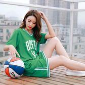 籃球服女套裝 Ins寬鬆bf風韓版球服女生短袖運動比賽球衣印字 【品質保證】