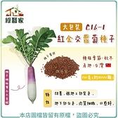 【綠藝家】大包裝C16-1.紅金交蘿蔔種子130克(11000顆)