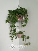 鐵藝花架壁掛轉角墻上花架墻角置物架綠蘿吊蘭架多功能三角置物架 伊芙莎