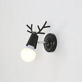 【Honey Comb】北歐簡約麋鹿壁燈黑色(KC1734)
