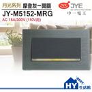 中一月光系列 JY-M5152-MRG 摩登灰一開關 鋁合金面板/灰框 (110V)《HY生活館》