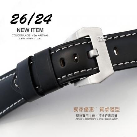 完全計時手錶館│Panerai 沛納海代用 大型錶扣 進口錶帶24/26mm 真小牛皮 限定特價優惠智慧手錶代用
