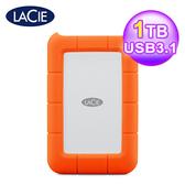 【LaCie 萊斯】Rugged USB 3.1 Type-C 雙介面 2.5吋行動硬碟 1TB