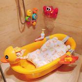 嬰兒感溫洗澡盆寶寶浴盆可坐躺卡通通用新生兒用品大號兒童沐浴桶 極客玩家