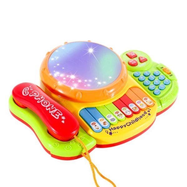 寶寶玩具電話機手機嬰兒兒童益智音樂1-3歲0小孩6-12個月男孩女孩 igo