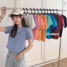 純棉短袖 棉新款短袖t恤女夏季超火泫雅風小款百搭上衣女短款高腰潮