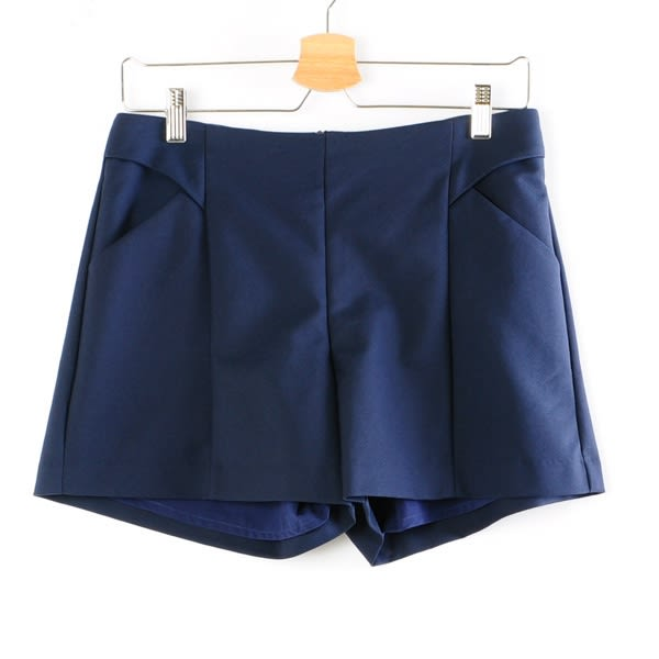 【MASTINA】簡約造型短褲-藍  秋裝限定嚴選