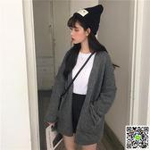針織外套 2019秋冬新款韓版chic慵懶風長袖針織開衫寬鬆上衣網紅毛衣外套女 印象部落