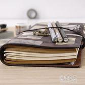 TN旅行手帳本子復古隨身筆記本文具皮日記本活頁創意記事手賬本     原本良品