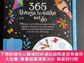 二手書博民逛書店365件創意手工練習罕見鍛煉動手能力 Usbonre 365 things to make and do 進口英文