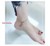日韓版鈦鋼鍍玫瑰金腳鍊女不掉色簡約葫蘆森繫氣質時尚腳踝足鍊