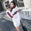VK精品服飾 韓國學院風時尚寬鬆連帽T恤長袖上衣