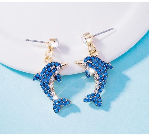 韓國海豚風耳環