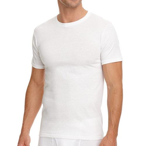 Jockey 創新3件裝白色圓領T恤衫內著