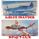 "【震撼精品百貨】1/72SPITFIRE P.R.MK.19""Blue lnvader"" / 1/72Fuji T-1A/B飛機模型【共2款】"