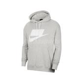 Nike 長袖T恤 NSW French Terry Pullover Hoodie 灰 白 男款 連帽上衣 帽T 【PUMP306】 BV4541-050