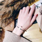 簡約個性鈦鋼雙層手鍊女韓版學生潮流百搭手鐲手環氣質日韓手飾品  朵拉朵衣櫥  朵拉朵衣櫥