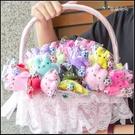 多彩綿綿兔吊飾糖果棒x50支+大提籃x1個(限宅配) 婚禮小物 遊戲抽獎 二次進場