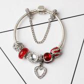 創意款 愛心手鍊首飾 diy歐美女款小飾品 紅色手飾《印象精品》yq262