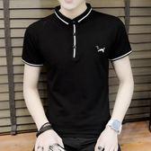短袖POLO衫T恤男夏季韓版潮流個性修身青少年男T《印象精品》t218