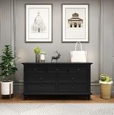 斗櫃新款美式輕奢斗櫃實木收納櫃玄關櫃客廳簡約現代斗櫥LX