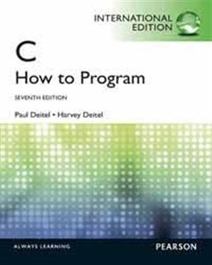 C HOW TO PROGRAM 7/E(M-PIE)