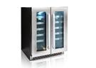限量贈酒杯禮盒 DIVIN DV-525DS 40瓶 雙門雙溫葡萄酒櫃 可獨立或嵌入擺放